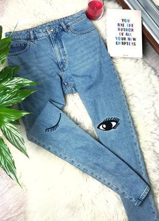 Мом джинсы высокой посадки monki