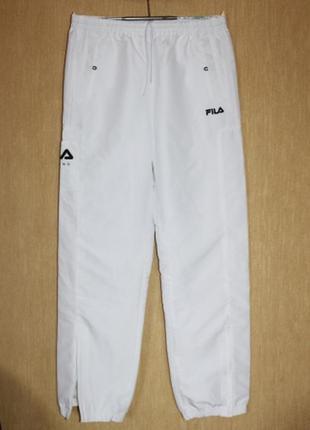 Отличные спортивные штаны брюки белые fila оригинал l/48-50