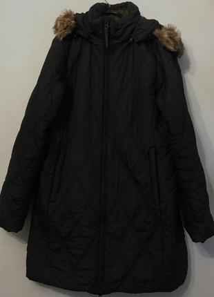 Пальто стеганое осень, зима