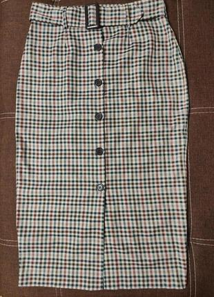 Юбка, стильная юбка на пуговицах