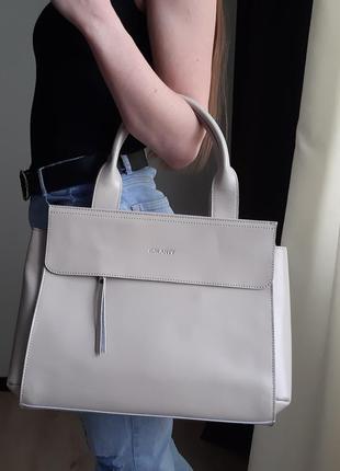 Большая кожаная сумка формата а4, galanty