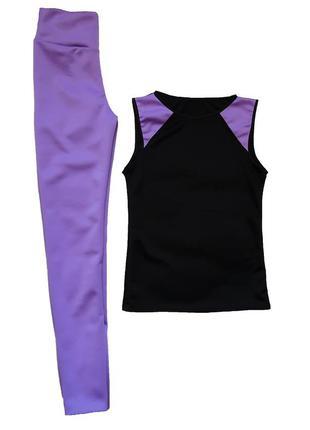 Спортивный костюм s m l xl с высокой посадкой / разные цвета
