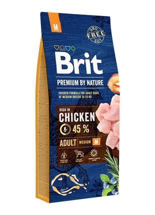 Сухой корм Brit Premium Adult M 3 кг для взрослых собак