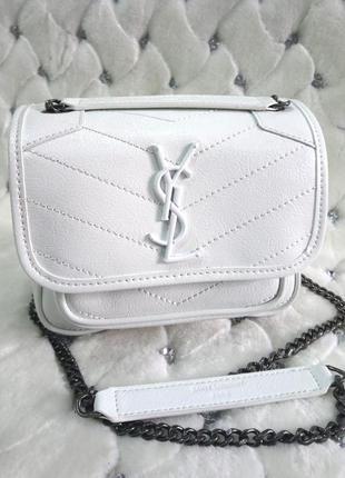 Женская сумка кожа в стиле yves saint laurent ив сен лоран