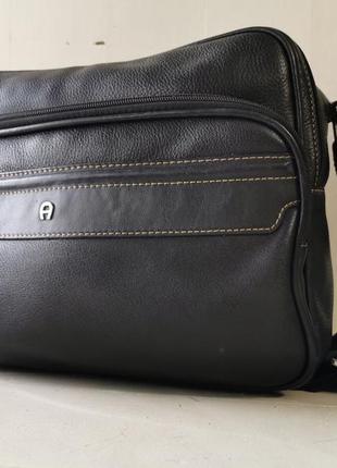 Etienne aigner большая, кожаная, мужская сумка
