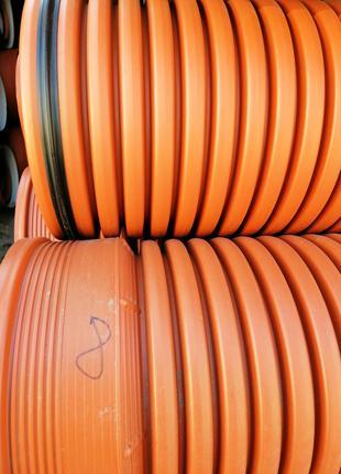 Труба гофрированная д.160х6000мм для наружной канализации