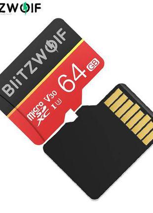 Карта памяти BlitzWolf BW-TF1 Class 10 UHS-3 V30 64 GB Micro S...