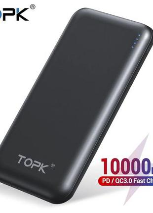 Power bank Topk PD QC 3.0 10k аккумулятор 18W батарея быстрое ...
