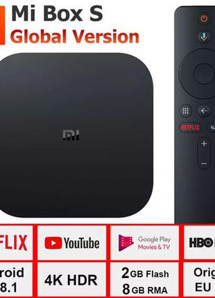 Smart ТВ приставка Xiaomi Mi Box S 2/8Gb TV Box 4K голосовое у...