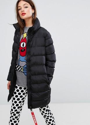 Новый пуховик love moschino оригинал куртка дутое пальто