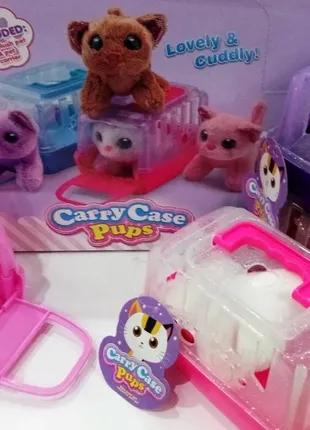 """Игрушка """"carry case pups"""" cat в домике"""