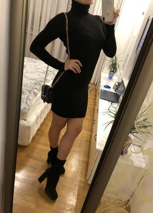 Черное платье чулок prettylittlething размер м