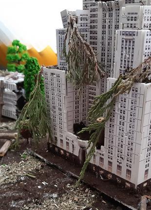 Диорама разрушеное здание