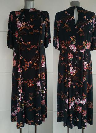 Стильное платье-миди  f&f с принтом красивых цветов