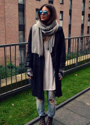 🌿 трикотажний довгий,широкий шарф