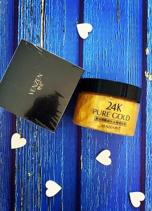 Ночная маска для лица venzen 24к pure gold niacinamide hydrati...
