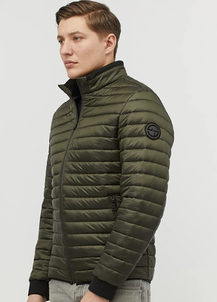 Нейлоновая мужская куртка демисезон хаки (48-58рр)