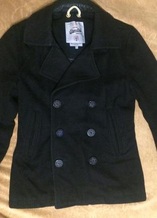 Superdry шерстяное пальто