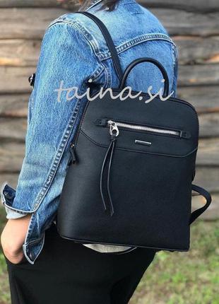 Рюкзак женский david jones 6110-3t black оригинал черный класс...