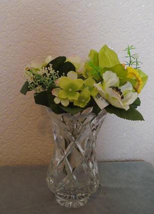 Искусственные цветы букет орхидей и анемонов