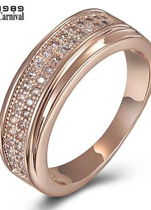 Кольцо размер 6, 15.5-16 розовое золото