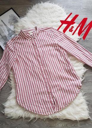 🔥🔥🔥коттоновая стильная рубашка в идеальном состоянии 💟 h&m 💟