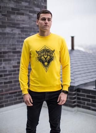 Свитшот pobedov tiger yellow