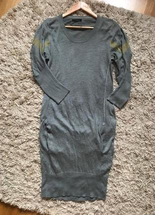 Платье цвета хаки на весну, размер с-м-л