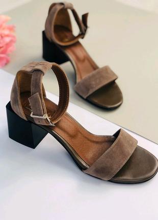 Женские натуральные замшевые босоножки сандали туфли