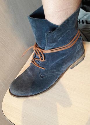 Стильные ботинки замша spm.