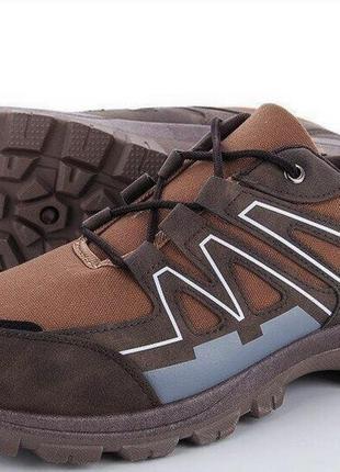 Суперские мужские кроссовки коричневые-40-45- zoom-