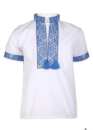 Вышиванка для мальчика вишиванка рубашка короткий рукав хлопчи...