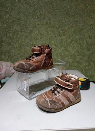 Chicco демисезонные ботинки детские 21 р  кожаные