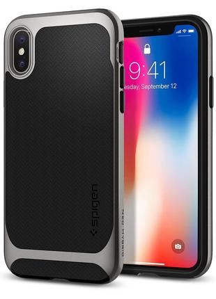 Чехол Spigen Neo Hybrid для iPhone X  Gunmetal