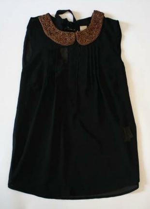 Шифоновая блузка с красивым воротничком