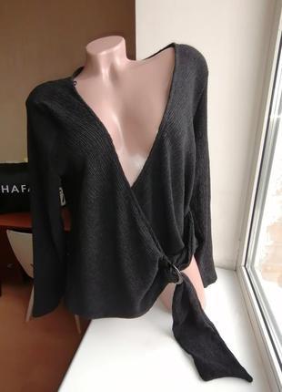 Новая с биркой легкая кофта\блузка на запах жатка h&m (к072)