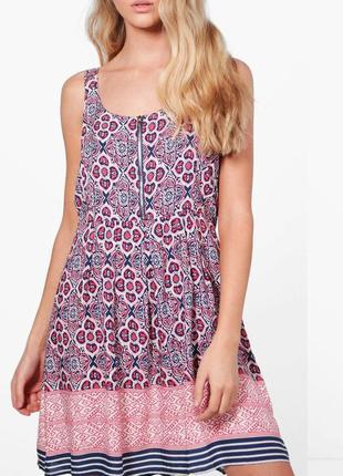 Яркий сарафан , платье из вискозы фирмы boohoo