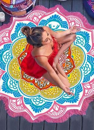 14-76/1 коврик мандала подстилка на пляж пляжний килимок
