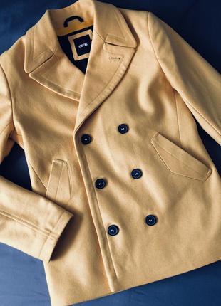 Двубортное шерстяное пальто asos !