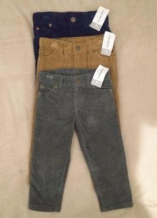Джинсы брюки  вельвет на 2-3 года