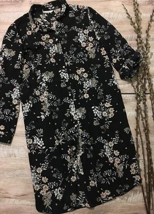 Очаровательное летнее платье-рубашка большого размера