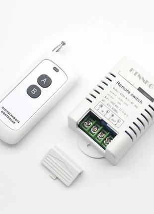 Wi-Fi /RF 433Mгц реле 30Aмпер с пультом (Умный дом)
