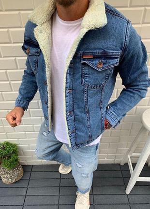 Джинсовая куртка на меху 🔥