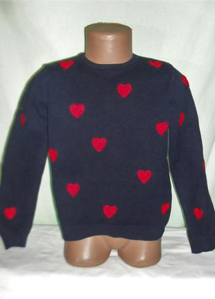 Хлопковый свитер с аппликацией на 6-8лет