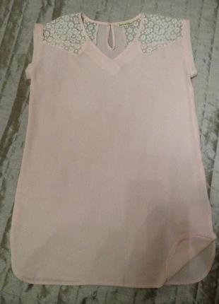 Розовое легкое платье р. м