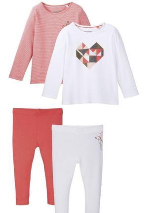 Набор одежды реглан +лосины 4 шт  lupilu германия р. 74 - 80