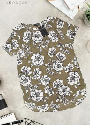 Легкая футболка в цветочный принт new look