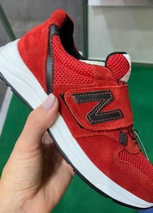 Детские замшевые красные кроссовки