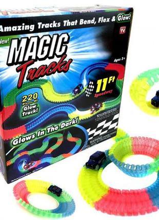 Автотрек Magic Tracks 220 Деталей Маджик Мэджик Трек Гонки Гибкий