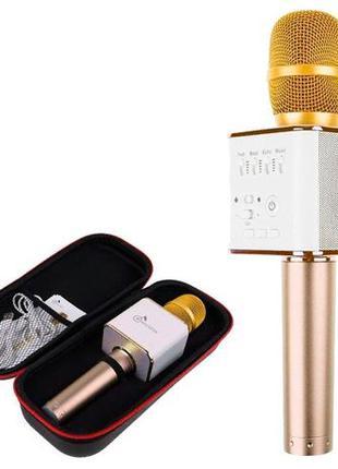 Беспроводной микрофон караоке блютуз Q9 Bluetooth динамик USB